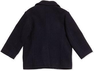 Ralph Lauren Melton Wool-Blend Naval Peacoat, Navy, Sizes 2T-3T