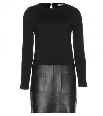 Vanessa Bruno WOOL AND LEATHER DRESS