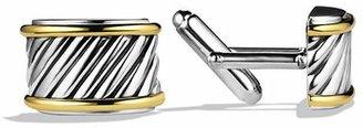 David Yurman Cable Cigar Band Cufflinks with Gold