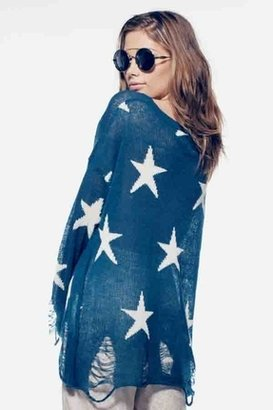 Wildfox Couture Seeing Stars Lennon Sweater in Blue Lagoon