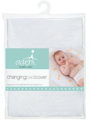 Aden Anais aden + anais Cotton Muslin Changing Pad Cover, Solid White