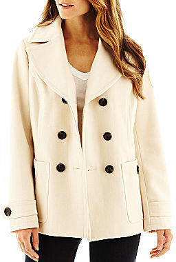 JCPenney St. John's Bay Classic Pea Coat - Talls