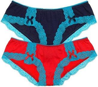 Honeydew Panty - Lace Trim Tanga #436