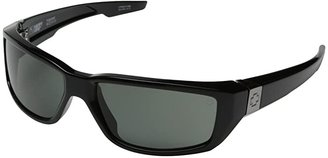 Spy Optic Dirty Mo (Black w/ Signature/Happy Gray Green Polar) Sport Sunglasses