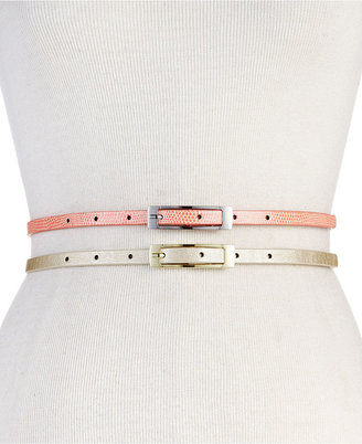Style&Co. Belt, 2 for 1 Pearlized Lizard