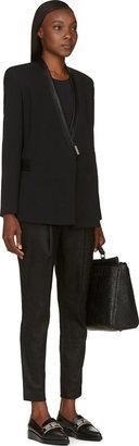 Helmut Lang Black Palm Suiting Seamed Blazer