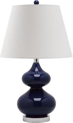 Safavieh Eva 24 in. Navy Double Gourd Glass Lamp