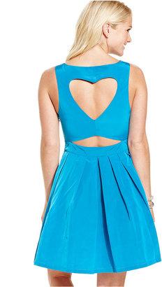 Monroe Marilyn Juniors' Dress, Sleeveless Cutout A-Line