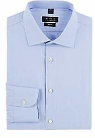 Barneys New York Men's Solid Trim-Fit Shirt - Blue