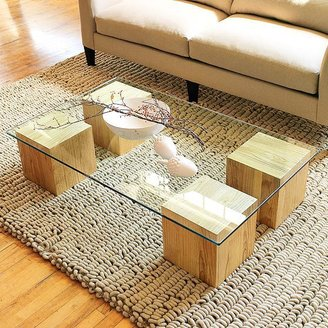 west elm Raw Wood Coffee Table