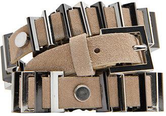 MANGO Leather belt