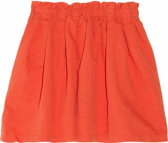 Aubin and Wills Carraville cotton and linen-blend mini skirt