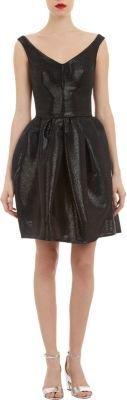 Carven Coated Basketweave Sleeveless Dress