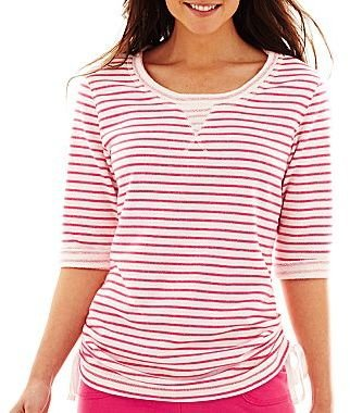 JCPenney Striped Side-Tie Top