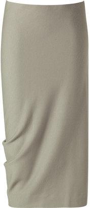 Donna Karan Silver Shadow Crushed Wool Stretch Skirt