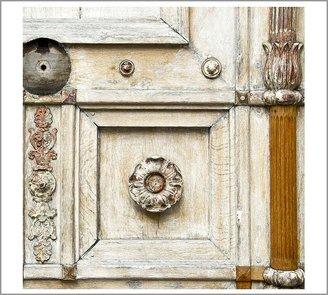 Pottery Barn Parisian Door Framed Print by Nichole Robertson