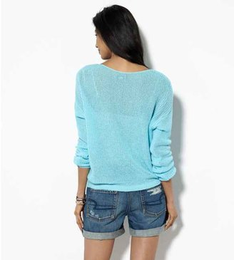 American Eagle AE Open Knit V-Neck Sweater