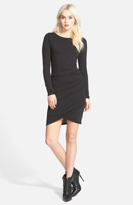 Women's Leith Ruched Long Sleeve Dress $59 thestylecure.com
