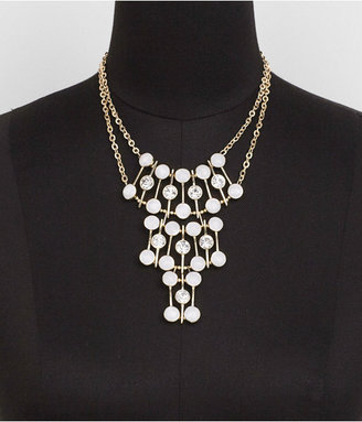 Express Enamel And Rhinestone Tiered Bezel Bib Necklace