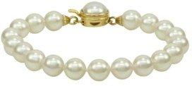 Majorica Pearl Bracelet, 18k Gold over Sterling Silver Organic Man Made Pearl