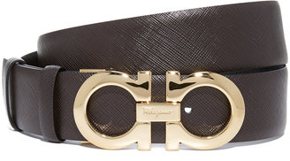 Salvatore Ferragamo Medium Giancini Reversible Belt $395 thestylecure.com