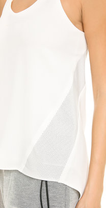 Rag and Bone Rag & Bone Chieftan Combo Tank with Leather Insets