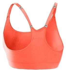 Under Armour Seamless Essential Sports Bra in Electric Tangerine