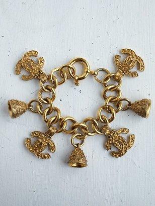 Free People Vintage Chanel Charm Bracelet