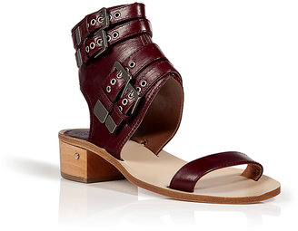 Laurence Dacade Leather Sandals in Bordeaux
