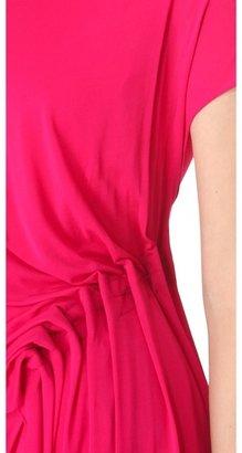 Donna Karan Low Back Draped Dress