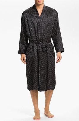 Men's Majestic International Dot Silk Robe $200 thestylecure.com