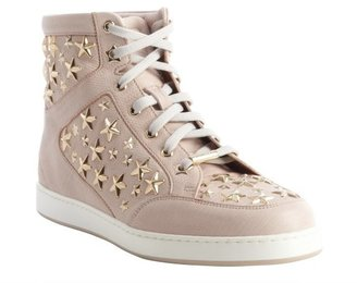 Jimmy Choo rose star studded leather high top 'Tokyo' sneakers