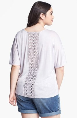 Painted Threads Crochet Back Jersey Tee (Juniors Plus)