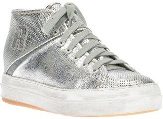 Ruco Line Rucoline metallic hi-top sneaker