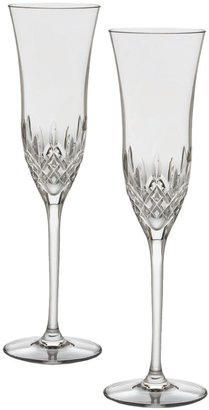 Waterford Two-Piece Lismore Essence Crystal Champagne Flutes