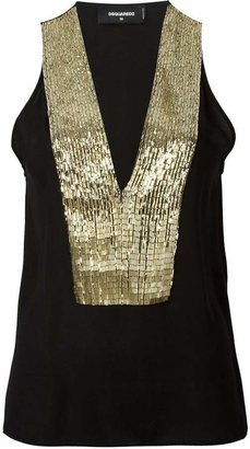 DSQUARED2 sequin sleeveless top