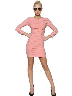 Balmain Striped Viscose Dress