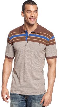 Sean John Big & Tall Striped Up Polo Shirt