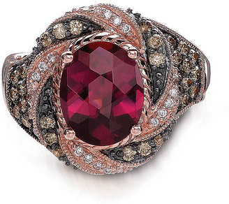 LeVian LE VIAN Rhodolite Ring with Diamonds in 14 Kt. Strawberry Gold