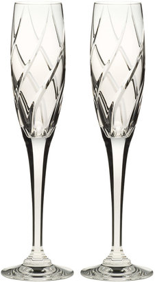 Mikasa Olympus Crystal Champagne Flutes, Set of 2