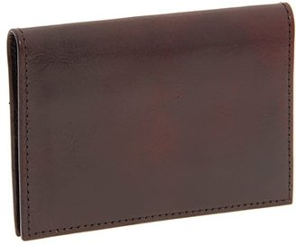 Bosca Old Leather Collection - Calling Card Case (Dark Brown Leather) Credit card Wallet