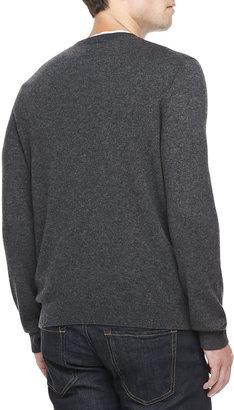 Vince Cashmere V-Neck Sweater, Charcoal