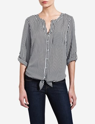 The Limited Stripe Front Tie Blouse