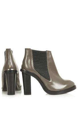 Topshop PARIS Woven Chelsea Boots