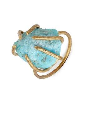 BaubleBar Turquoise Chunk Prong Ring