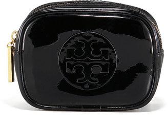 Tory Burch Small Patent Cosmetics Case, Black