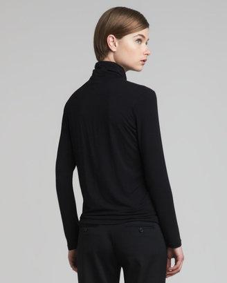 Etro Long-Sleeve Jersey Turtleneck, Black