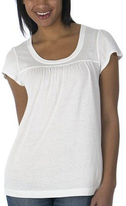 Solid of TGCW Mossimo® Black: Shirred Baby Doll Solid Tee - True White