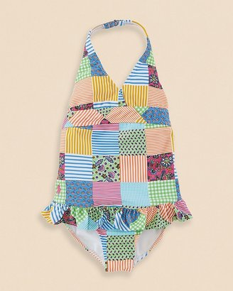 Ralph Lauren Girls' Patchwork One Piece Swimsuit - Sizes 2-6X
