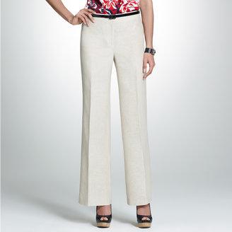 Jones New York Linen Button Front Pant